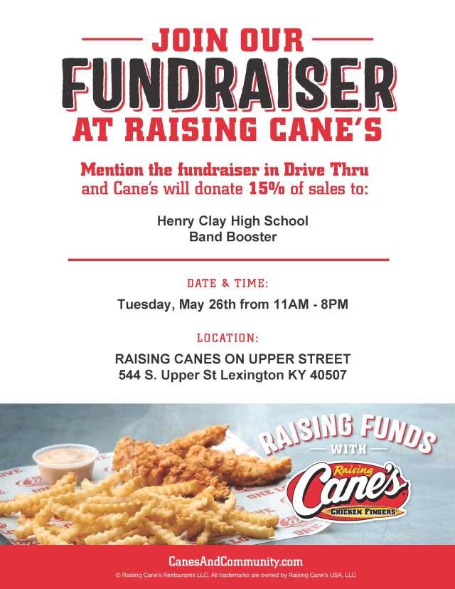 Raising Canes Fundraiser
